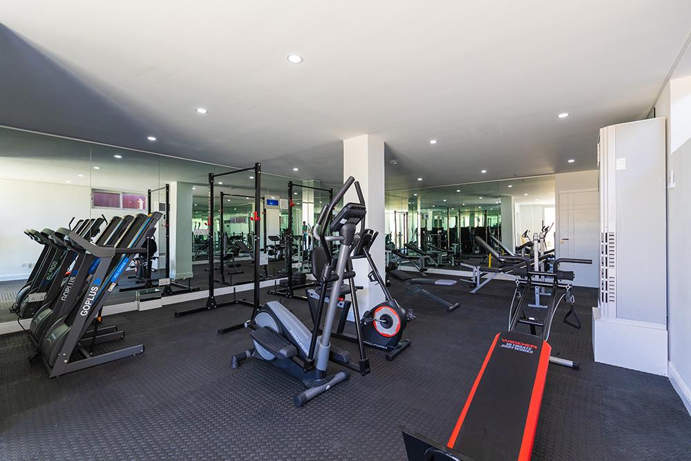 exercise machines at Hideaway True Blue Condominiums' Fitness Centre